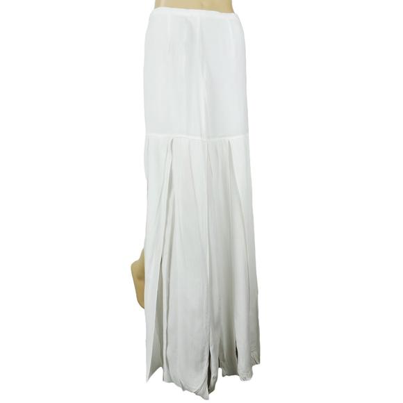 BB Dakota Dresses & Skirts - BB Dakota White Slit Fringe Maxi Skirt